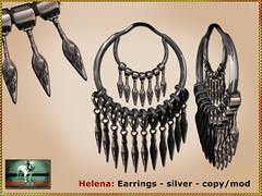 Bliensen - Helena - earrings - silver