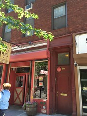 Photo of Frank O'Hara red plaque