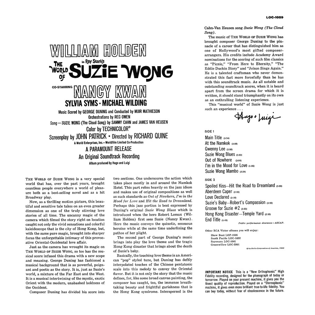 George Duning - The World of Suzie Wong