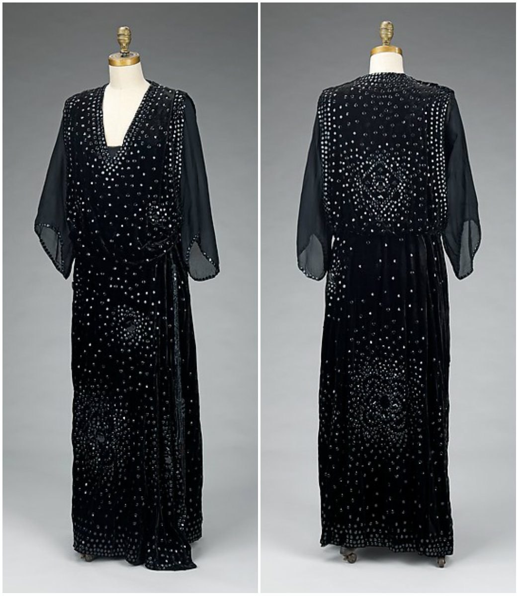 1918 Dinner Dress. Silk synthetic. metmuseum