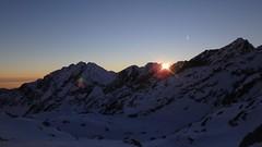 coucher de soleil depuis les lacs bessons