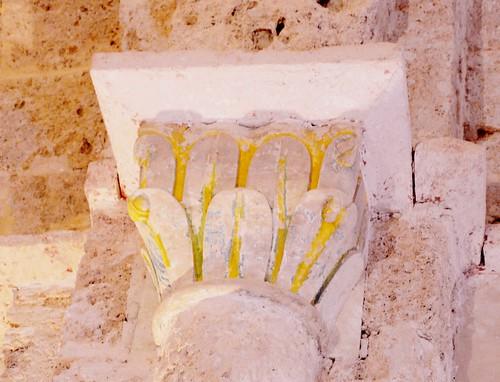 Abajas (Burgos). Iglesia de Nuestra Señora. Capitel de la nave