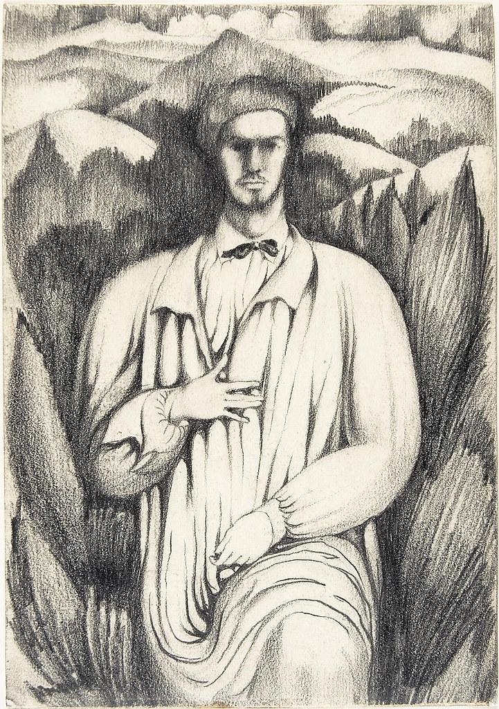 26.- Retrato paisagem, 1913. Auto-retrato de Amadeo de Souza-Cardoso, pertencente à coleção Museu Caloustre Gulbenkian