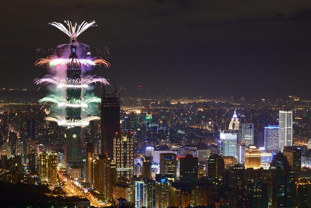 2017.01.01 台北 / 南港山 / 台北101跨年煙火 / Taipei 101 New Year Firework **Explored