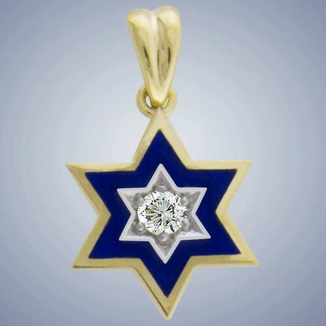 Diamond Star of David necklace by Kabbalah Jewelry Designers
