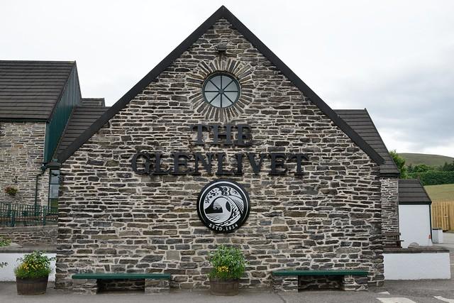 212-20160726_The Glenlivet Distillery-Banffshire-Glenlivet name plaque and symbol beside Visitor Centre