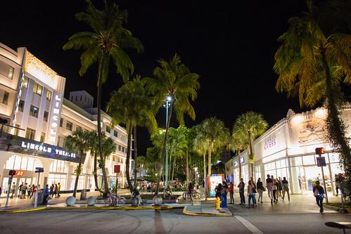 Lincoln Rd. Mall. Miami Beach. Florida. USA.