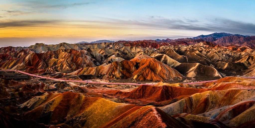 Panorama of Zhangye Danxia Landform