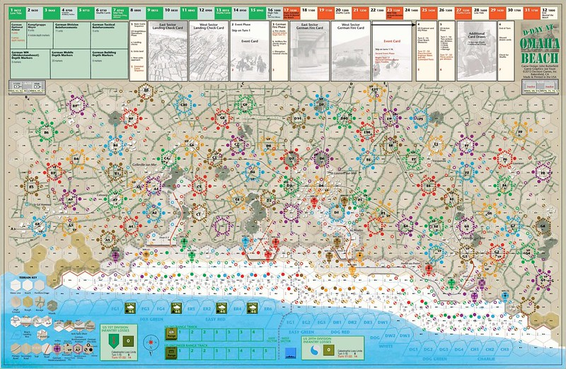 D-Day at Omaha Beach - wargame solitaire publié par Decision Games