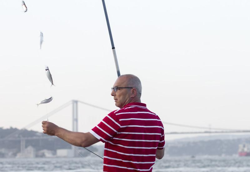 Fishing in Uskudar - Istanbul