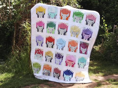 Hazel Hedgehog quilt