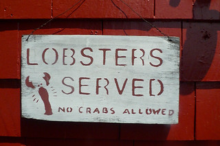 Maine - Kittery Chauncey Creek Lobster Pier sign