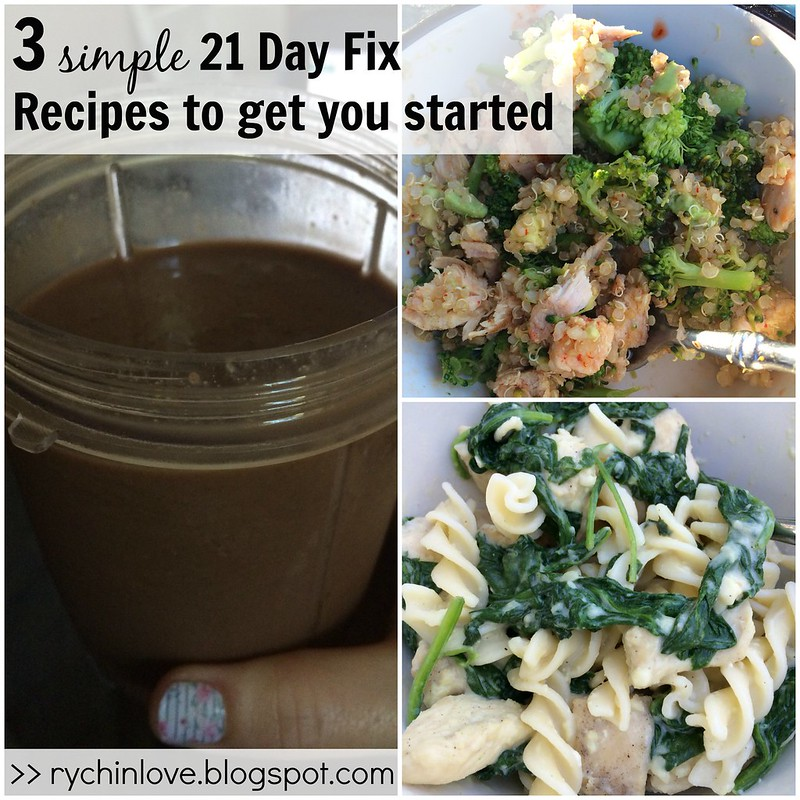 3 Simple 21 Day Fix Recipes to help get you started!