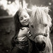 A girl and her horse by EeVee Photography