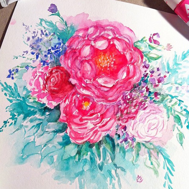 WatercolorFlower