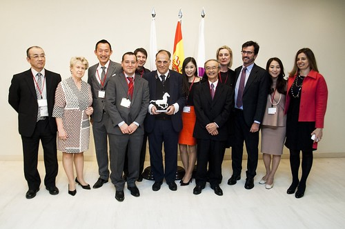 20161217 Spain Japan Business Contribution Award with LaLiga, Spanish Football League