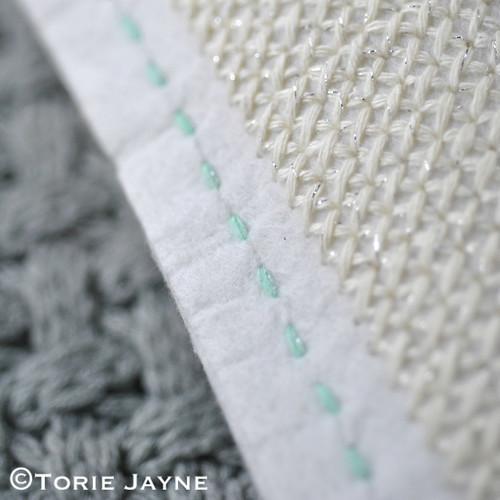 DIY cross stitch cushion 6