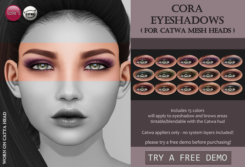 Cora Eyeshadows (Catwa) - SecondLifeHub.com