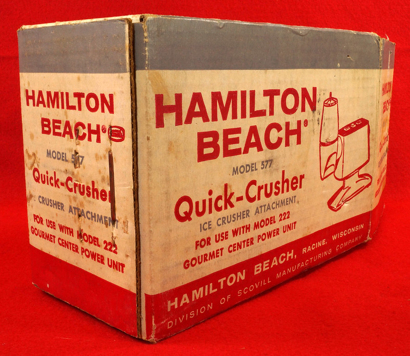 RD9231 Vintage Hamilton Beach Model 577 Quick Ice Crusher Attachment for 222 Power Center DSC08544