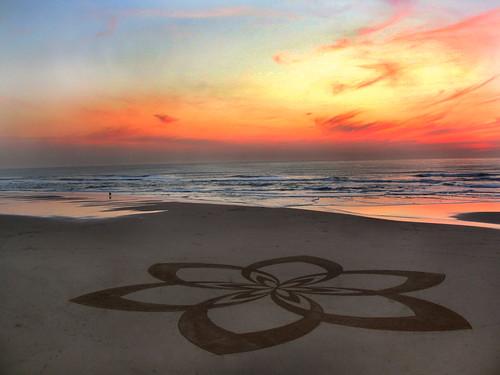 Ocean Beach Sand Circle