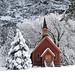 Yosemite Chapel Winter 2006 by Vladimir Fanning