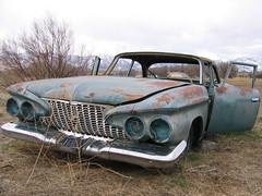 Rusted automotive hulks