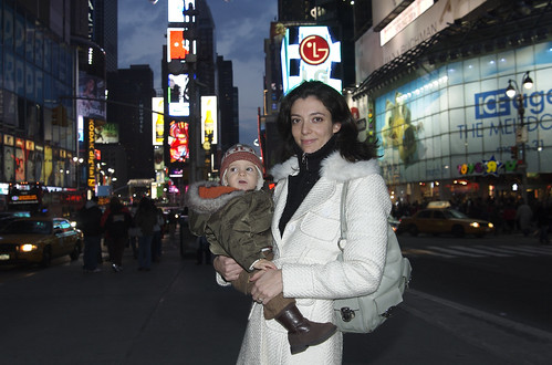 Lucas in Times Square