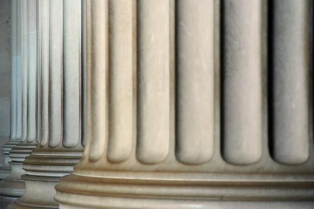 Pillars at the Lincoln Memorial