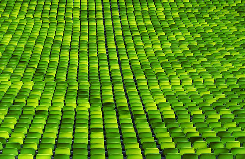 green sea of chairs by SophieMuc