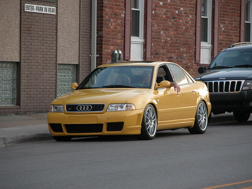 audi  imola yellow audi a4 b5 with nice rims