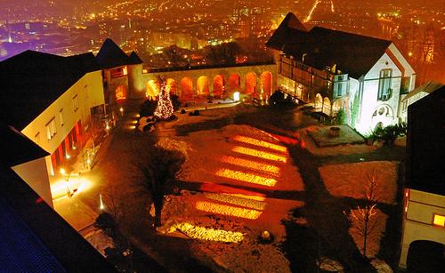 Ljubljana castle by night