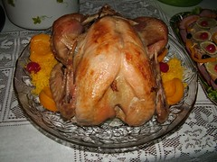 turkey(0.0), phasianidae(0.0), bird(0.0), meal(1.0), turkey meat(1.0), roasting(1.0), thanksgiving dinner(1.0), meat(1.0), hendl(1.0), food(1.0), dish(1.0), thanksgiving(1.0), roast goose(1.0), cuisine(1.0), turducken(1.0),