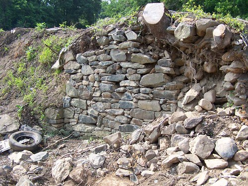 North Facing Foundation Wall, and Trash Heap