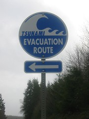 SR101 Tsunami Escape Route Sign