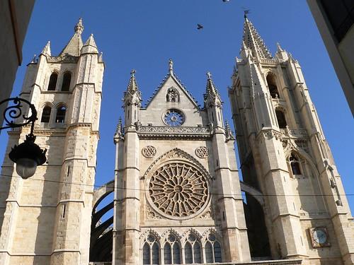 La catedral de León, llamada la pulcra leonina.