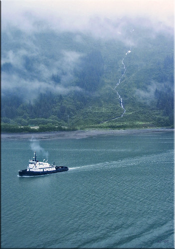 tug and falls, Alaska 2002 by Alida's Photos