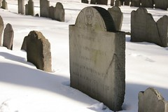 Gravestones in the Snow