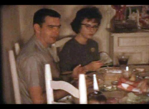 family homemovies 8mm film christmas lakejackson texas john marie parents 1963