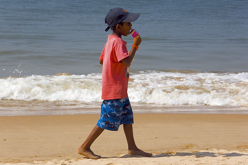 Ice lolly on the beach!