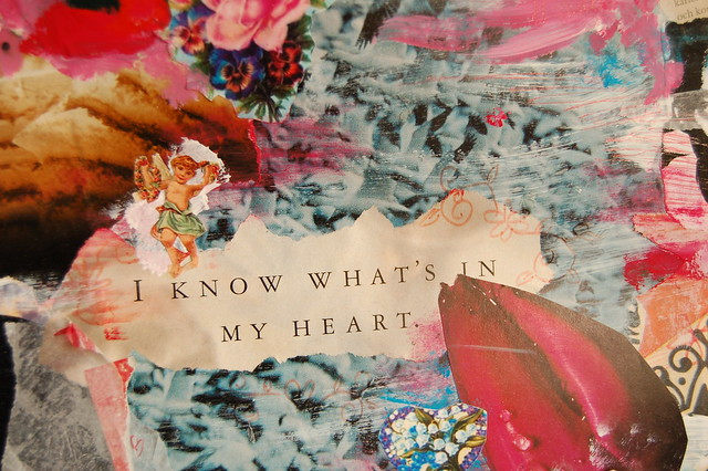 I know what's in my heart collage detail by iHanna