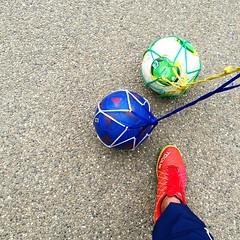 今日も手賀沼公園でガーデン大会に向けて練習。ってほどでもないか。 #サッカー #U8 #公園 #park