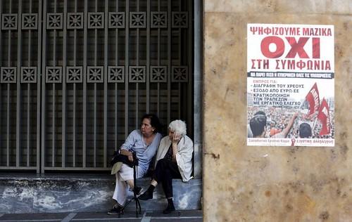A  veure que diu ara la suposada Europa avançada i demòcrata...Foto: Jean Paul Pellisier (Reuters)#OXI #Grefenderum