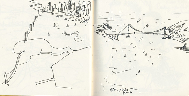 Sketchbook #89: Sketching while flying around San Francisco