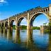 A North Bound CSX Train on the Powhite Train Bridge, Richmond, VA by i nikon