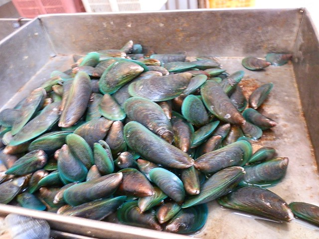 Green Mussles at Tekka Center in Little India Singapore