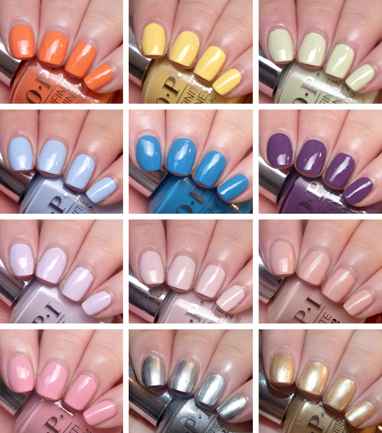 OPI infinite shine summer 2015 swatches