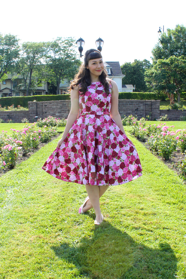 unique vintage rose dress