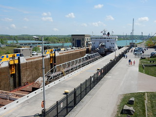 Lake Freighter in Lock 3 at the Welland Canal Centre