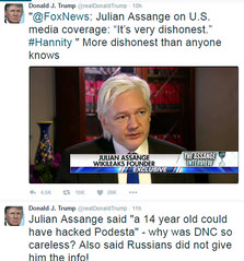 Donald Trump pozitív a Wikileaks-ről