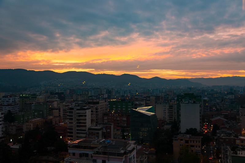 View From The 'Sky Bar' - Tirana